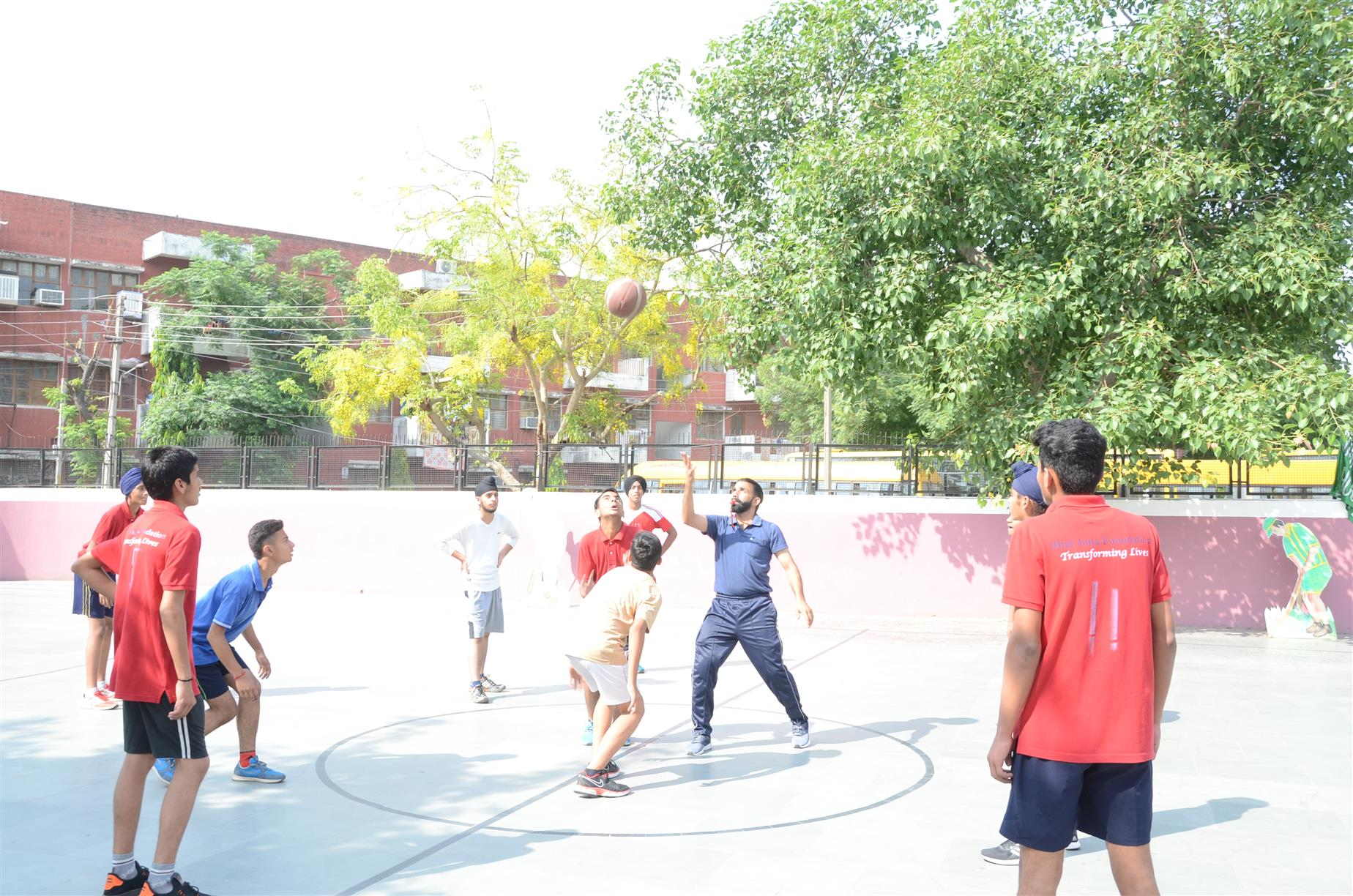 An Inter Branch Basketball tournament at AKSIPS 41 Smart School | AKSIPS 41 Chandigarh