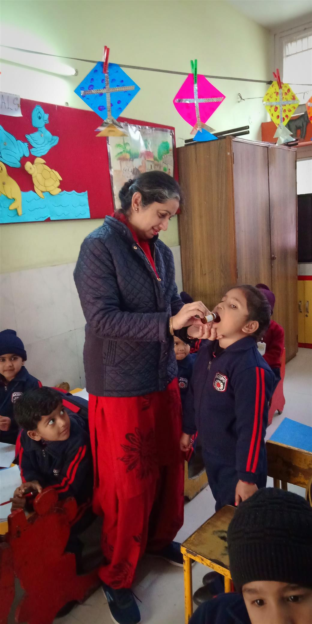 National Deworming Day at AKSIPS 41 Smart School | AKSIPS 41 Chandigarh