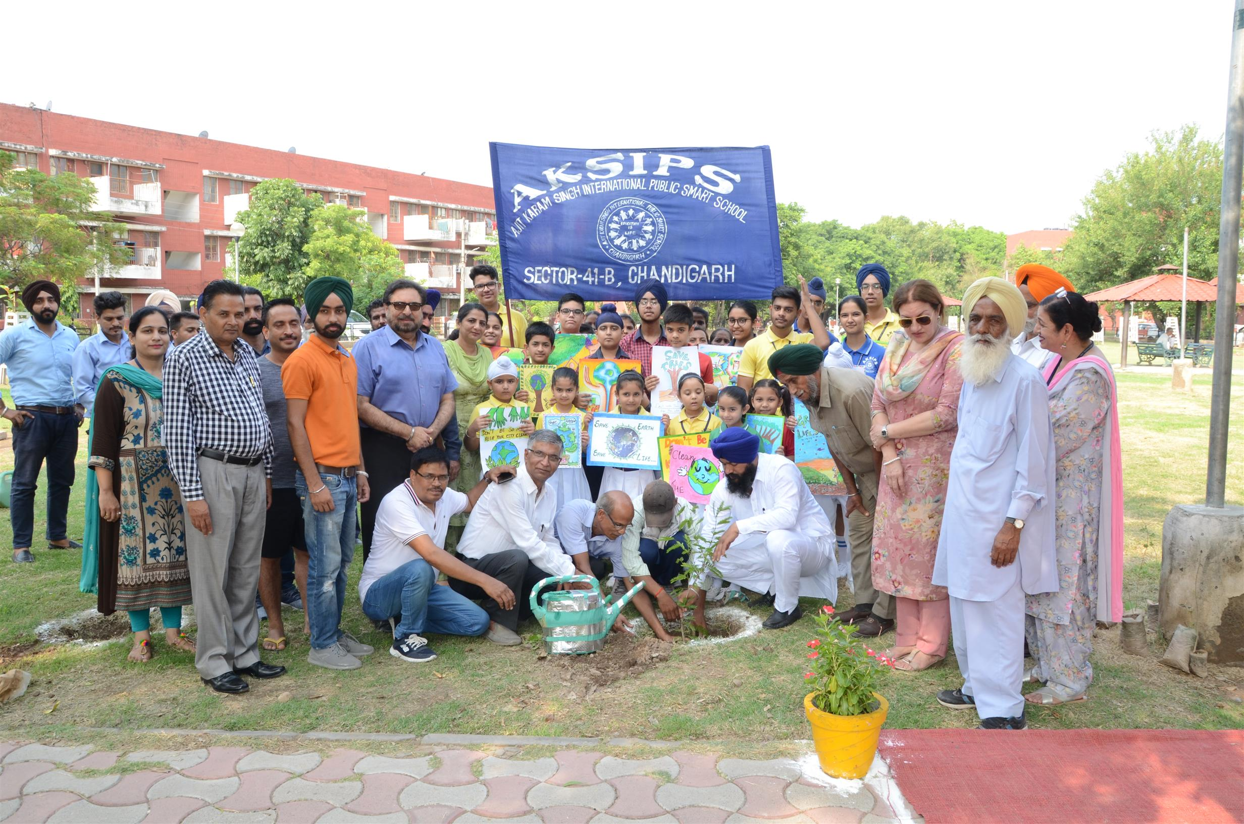 EACH ONE – PLANT ONE DRIVE AT AKSIPS 41 | AKSIPS 41 Chandigarh